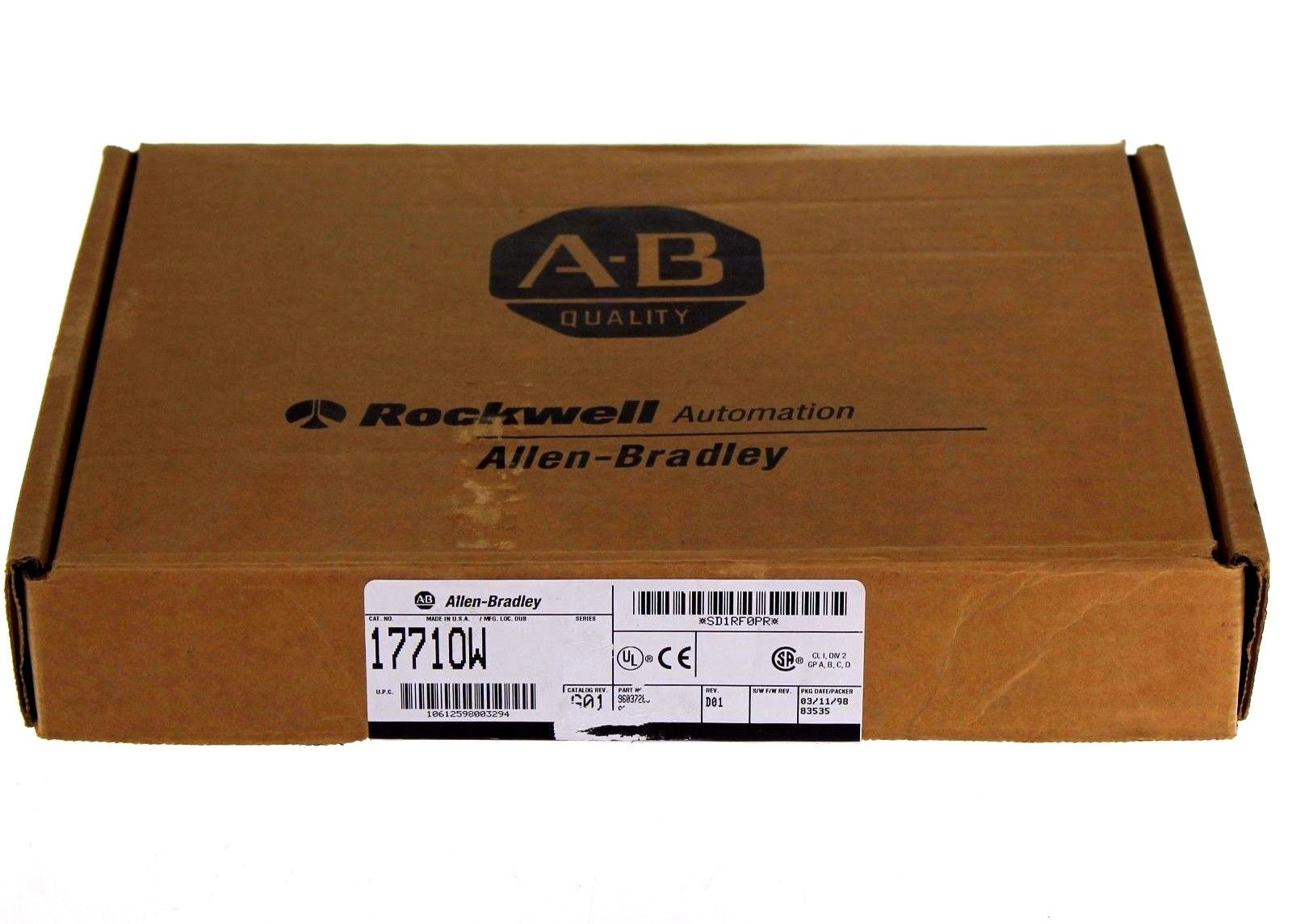 NEW Allen Bradley 1771-OW/A Selectable Contact Output Module