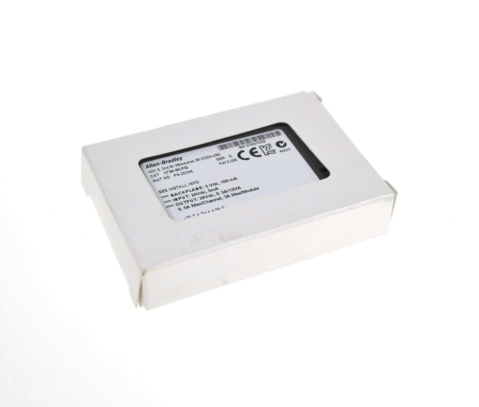 New Allen Bradley 1734-8CFG 8 Point I/O Interface Module Series C F/W 3.006