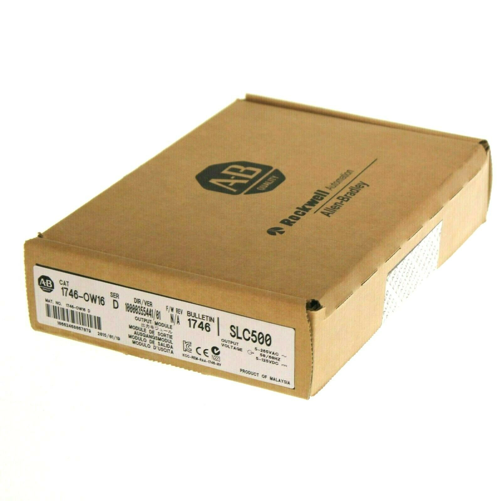 New Sealed Allen Bradley 1746-OW16 /D SLC 500 16-Point Relay Output Module