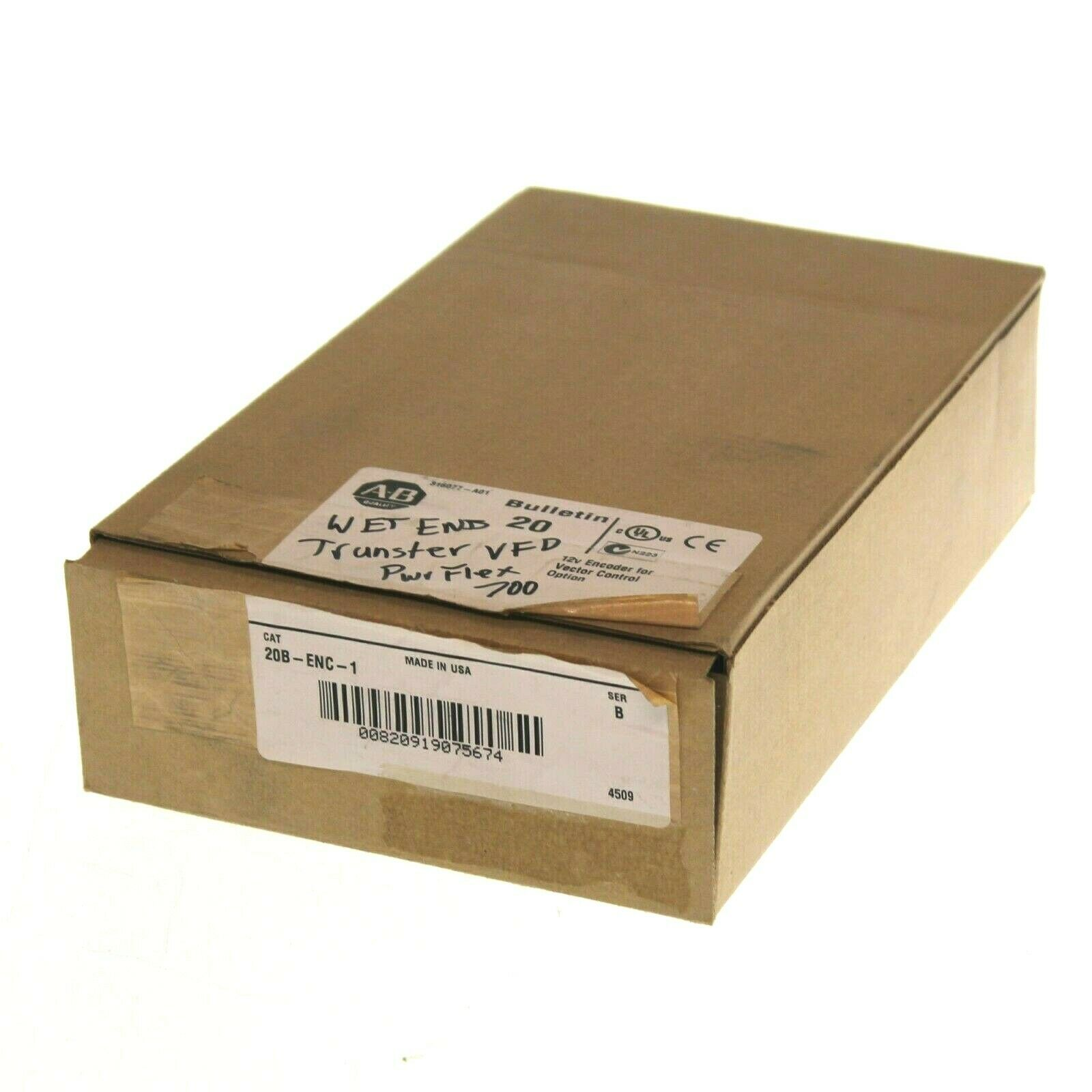 NEW Allen Bradley 20B-ENC-1 /B 12V Encoder for Vector Control Option