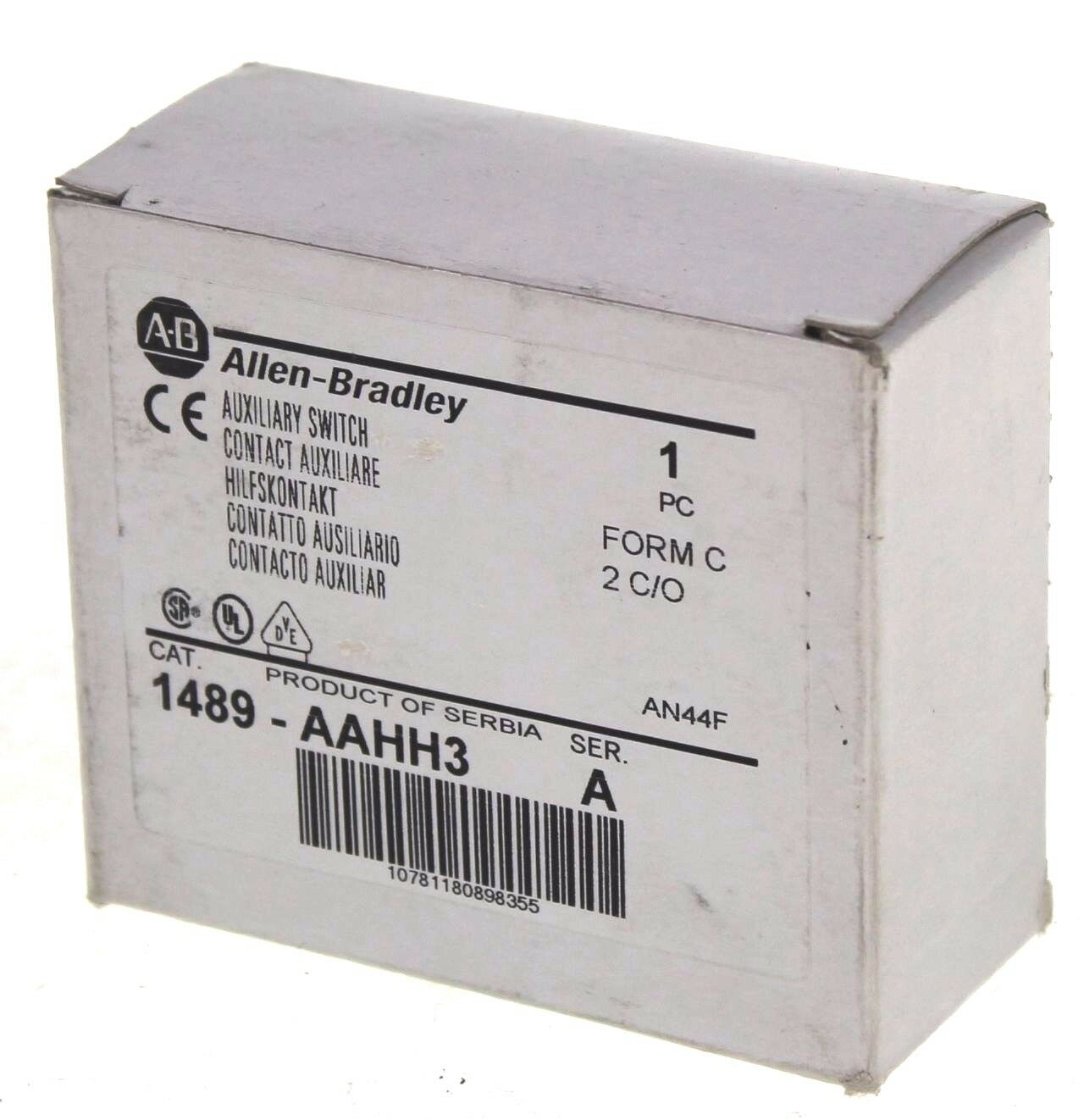 New Allen Bradley 1489-AAHH3 Series A Auxiliary Switch