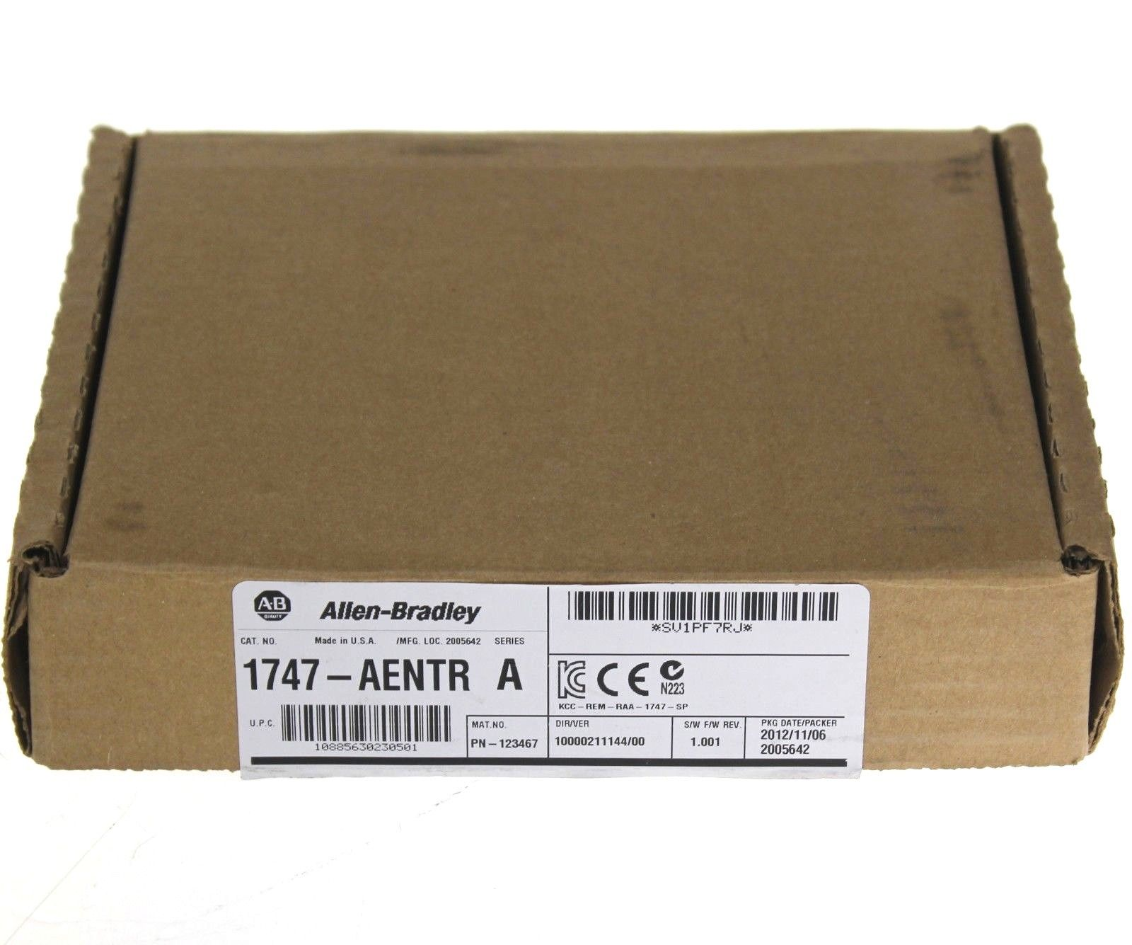 New Allen Bradley 1747-AENTR SLC 500 EtherNet/IP Adapter Series A Fr. 1.001