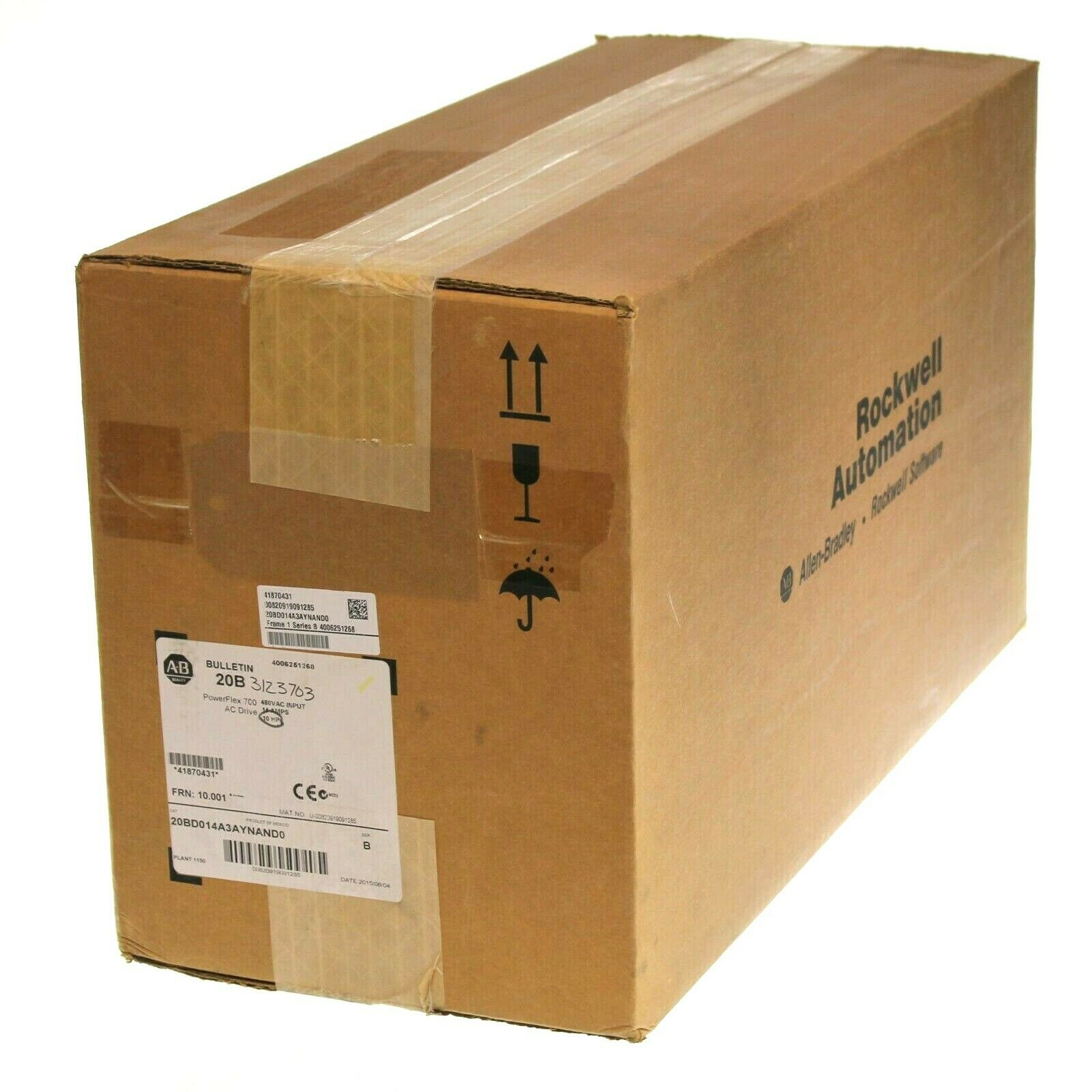 New Sealed Allen Bradley 20BD014A3AYNAND0 /B PowerFlex 700 AC Drive 10HP 14A