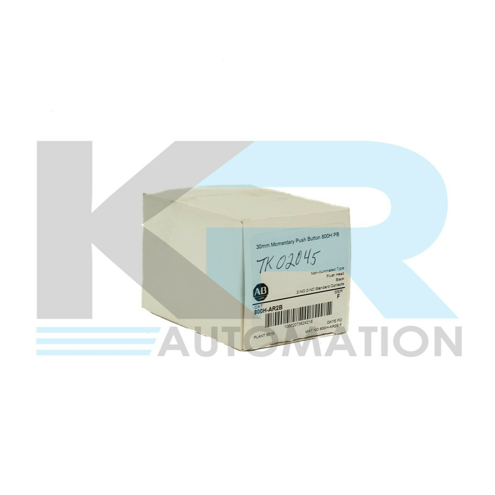 NEW Allen Bradley 800H-AR2B /F Non-Illuminated Black Push Button Flush Head
