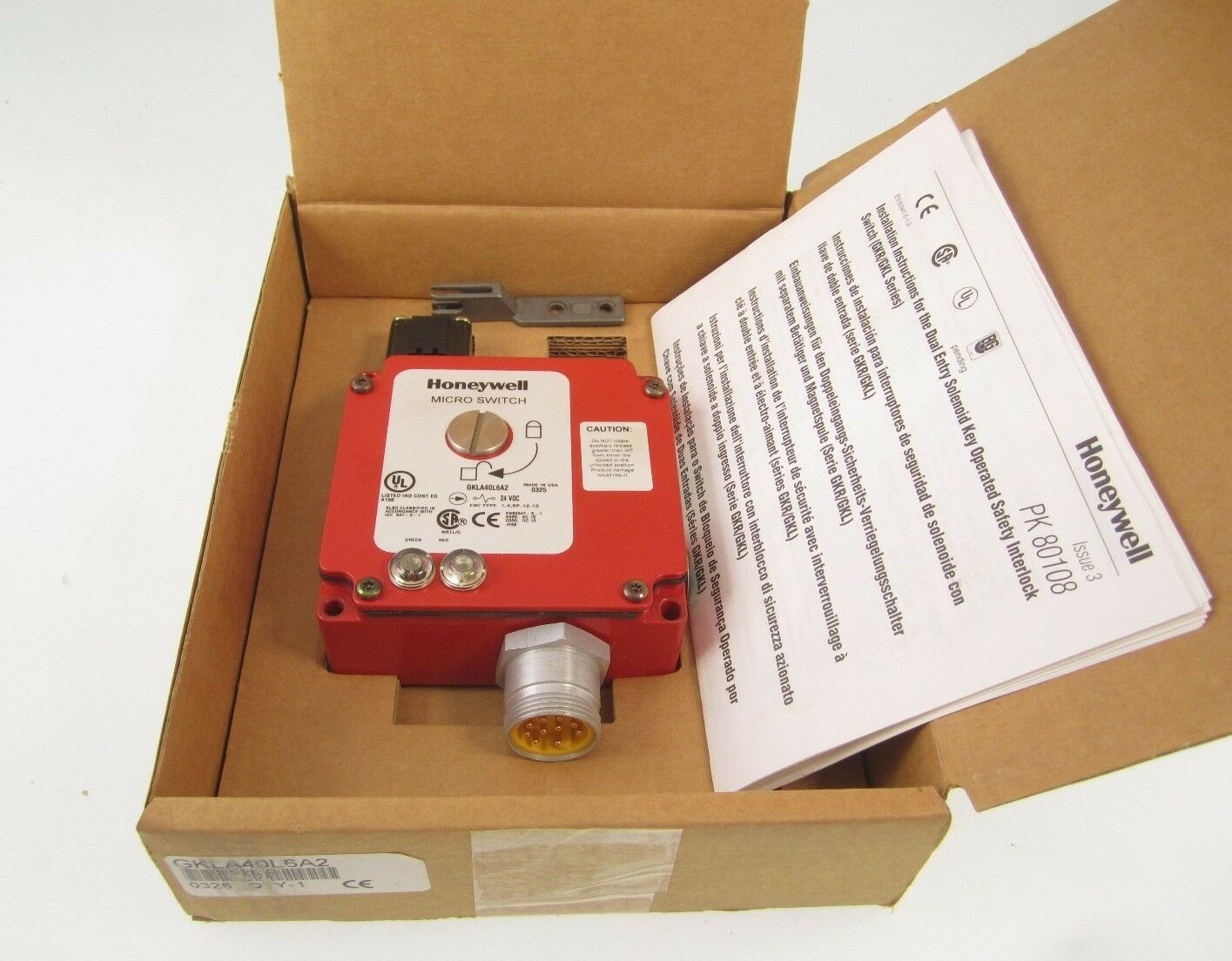NEW IN BOX HONEYWELL GKLA40L6A2 MICRO SWITCH 24VDC PK 80108