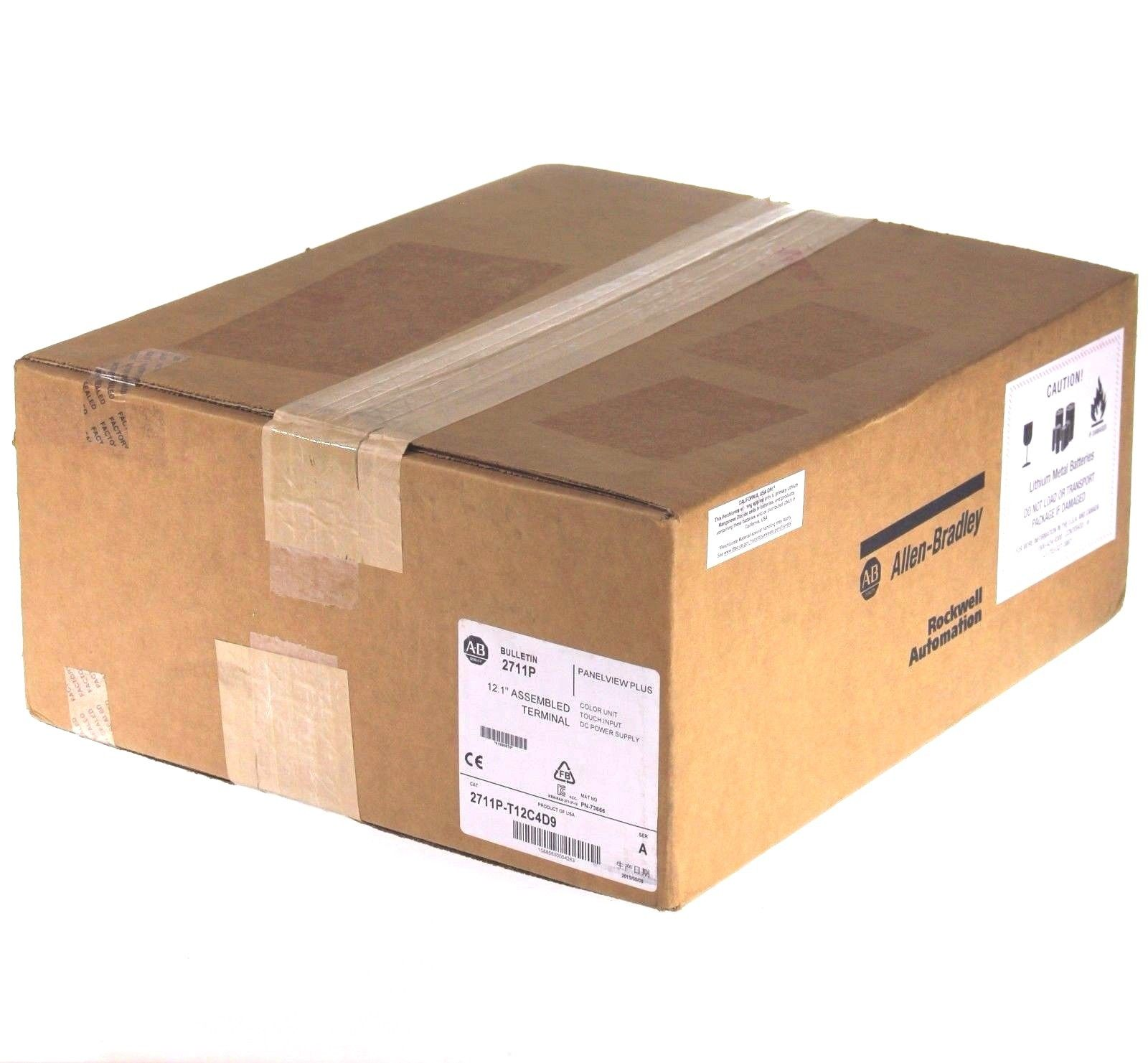 New 2015 Factory Sealed Allen Bradley 2711P-T12C4D9 PanelView Plus 6 1250