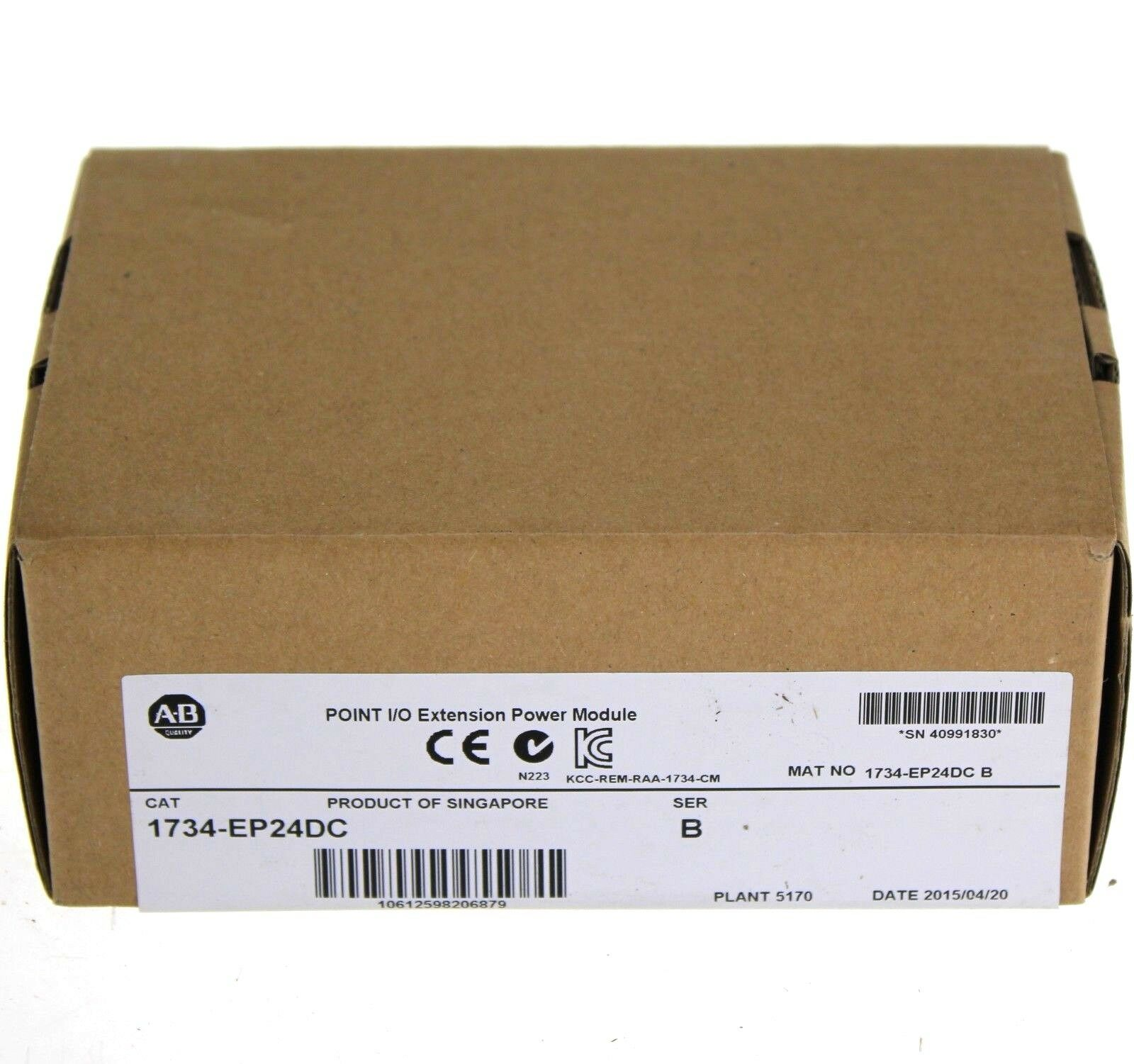 New Sealed 2015 Allen Bradley 1734-EP24DC Series B Power Extension Module